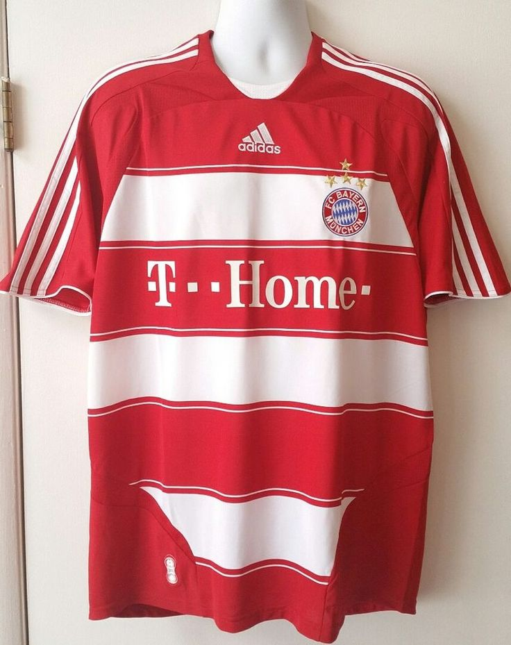 Adidas *RIBERY* FC Bayern Munich Home Soccer Jersey, Red/white HOME, US Size L | Sporting Goods, Team Sports, Soccer | eBay!