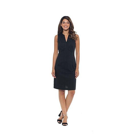 Black Mini Dress Long Mini Dress Mid Calf Dresses V Neck
