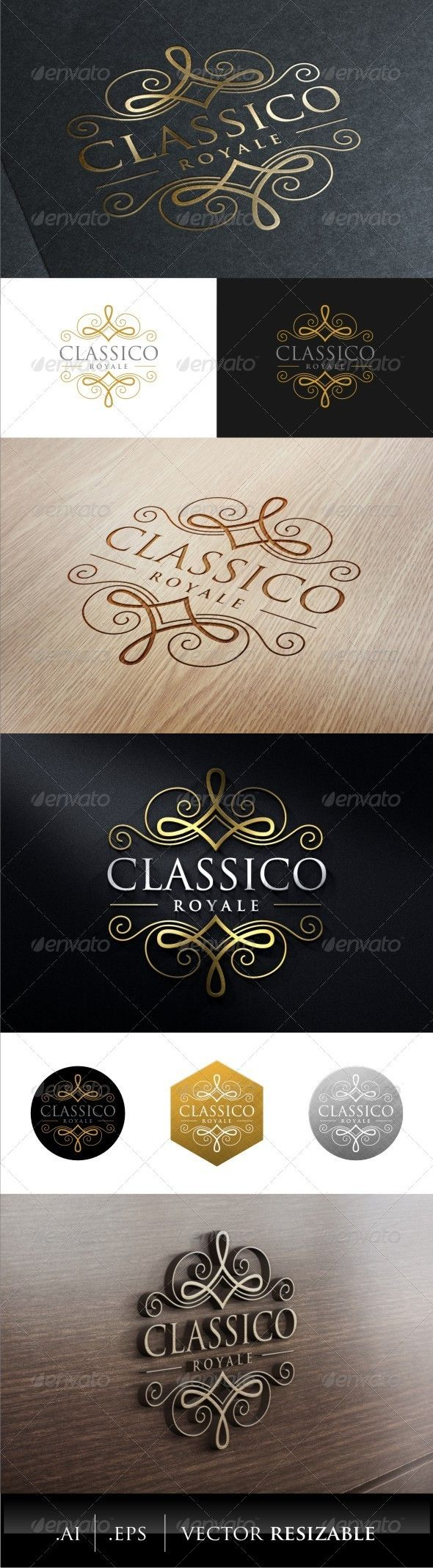 Classic Royal Logo — Vector EPS #business #decorative • Available here → https://graphicriver.net/item/classic-royal-logo/7879641?ref=pxcr