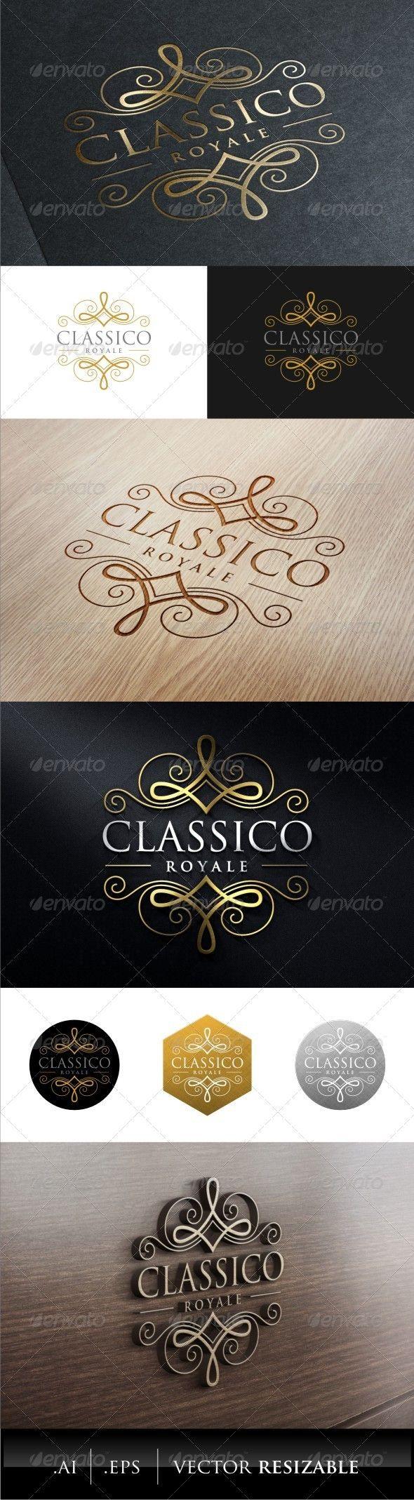 Classic Royal Logo Template #design #logotype Download: http://graphicriver.net/item/classic-royal-logo/7879641?ref=ksioks