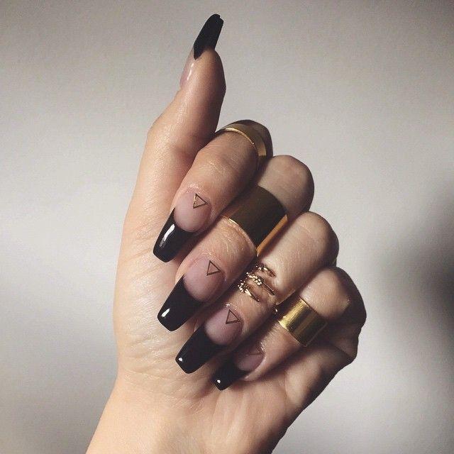 black tip nails tumblr - photo #12