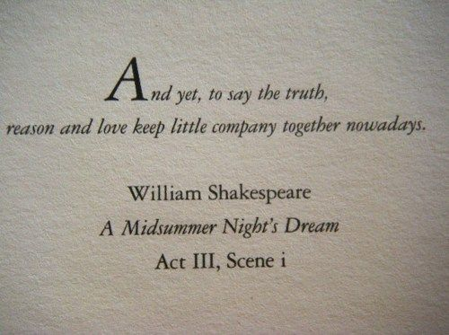 A Midsummer Night's Dream by William Shakespeare.