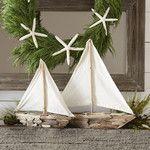 <strong>Driftwood Sailboat Decor (Set of 2)</strong>