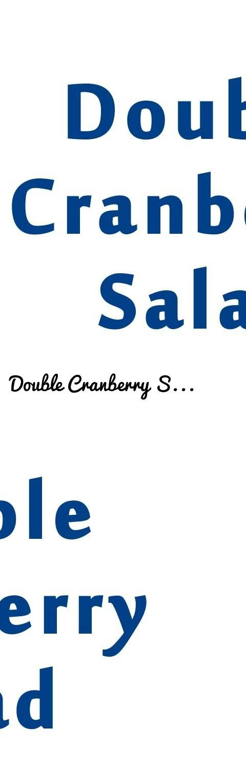 Double Cranberry Salad | EASY TO LEARN | QUICK RECIPES... Tags: amazing videos of the world, amazing RECIPES, amazing FOOD, Food, Restaurants, whole foods, chinese food, recipes, food near me, chicken breast recipes, crock pot recipes, slow cooker recipes, healthy snacks, cake recipes, pork chop recipes, pasta recipes, fast food, mexican food, vegetarian recipes, smoothie recipes, Recipes, chicken recipes, meatloaf recipe, chili recipe, pancake recipe, dinner ideas, healthy recipes, ground…