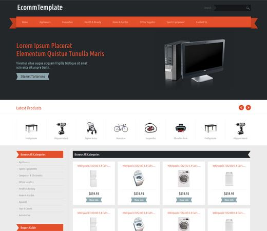 15 best Free eCommerce HTML Templates images on Pinterest | Free ...