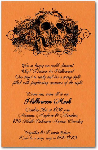 25 best ideas about Invitation halloween – Kids Halloween Party Invitation Wording