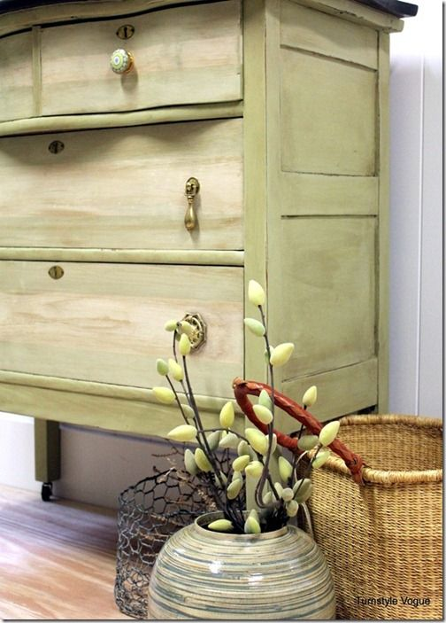Prairie colors painted on this gorgeous dresser