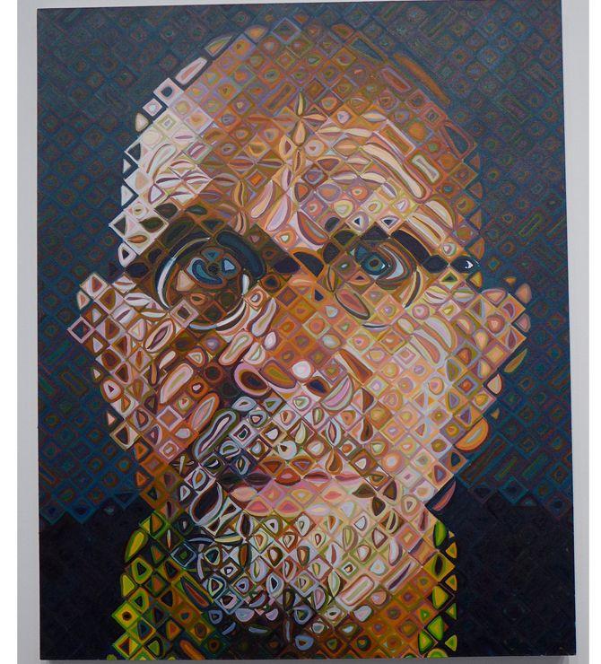 Self-portrait by Chuck Close