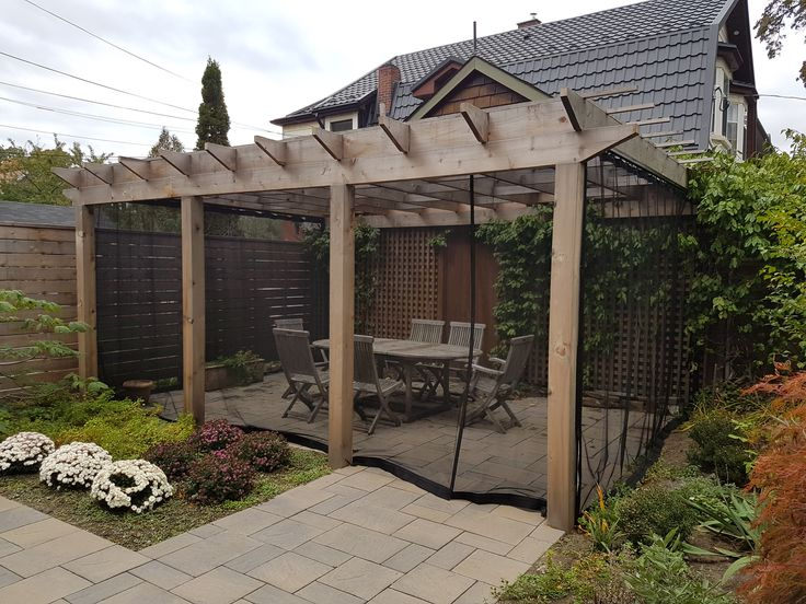 1000 id es sur le th me rideaux de pergola sur pinterest pergola en plein air pergolas et - Keep mites away backyard hiking ...