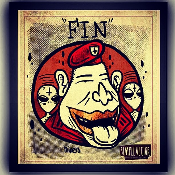 FIN / THE END x @simplevector