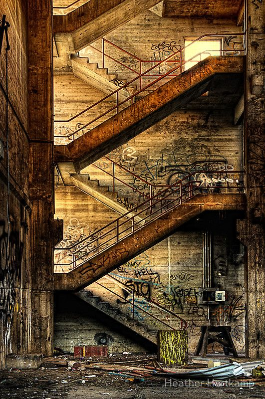 Stairway to Nowhere by Heather Prince ( Hartkamp ). An abandonment in Geelong taken early in the morning