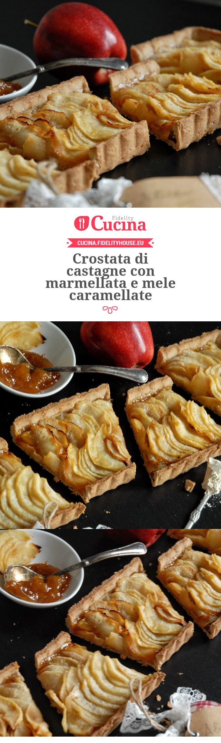 Crostata di castagne con marmellata e mele caramellate della nostra utente Alice. Unisciti alla nostra Community ed invia le tue ricette!