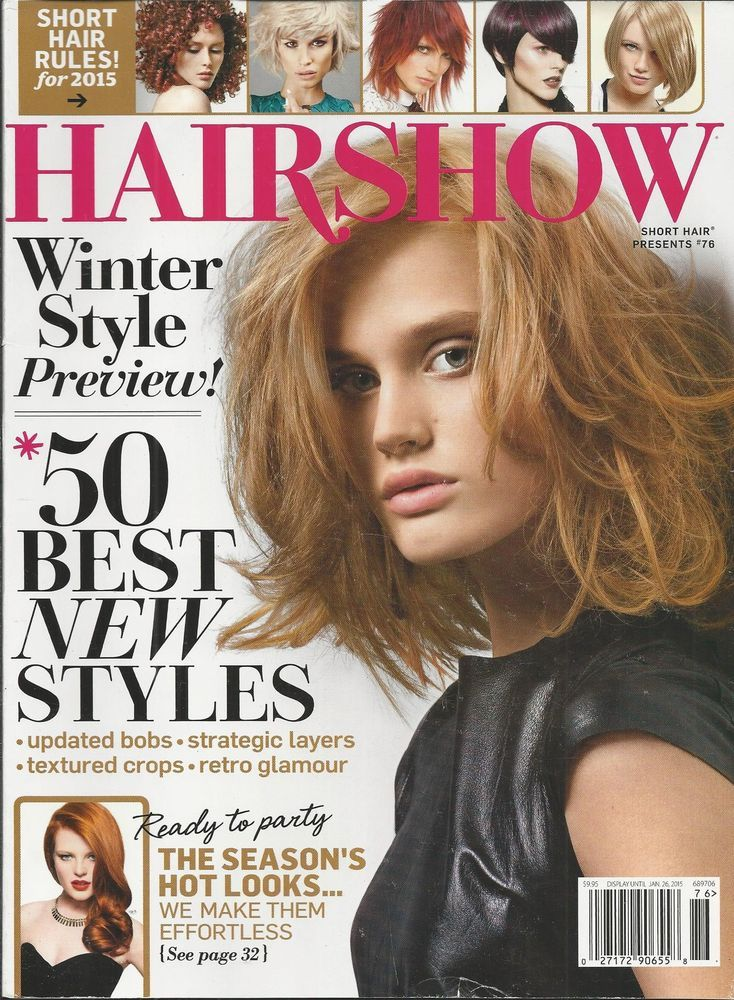 Hair Show hairstyles magazine Winter style Bobs Layers Crops Retro glamour Color