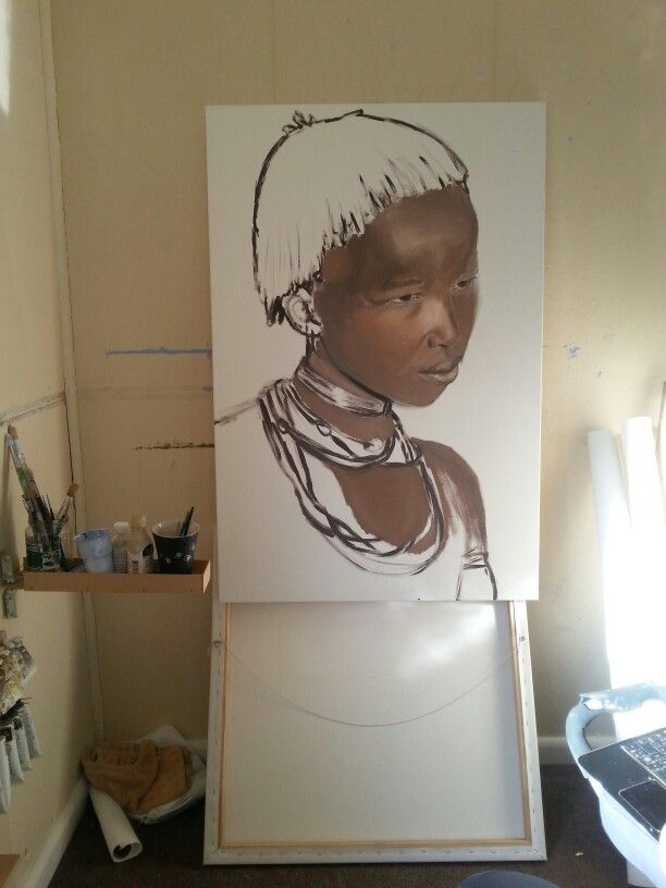 A quick undercoat of my next painting Hamer Girl