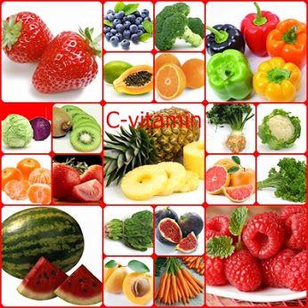 C vitamint tartalmazó ételek  A C-vitamin egy vízben oldódó tápanyag, amely a sejtek és a csontozat karbantartásában, valamint a fertőzések leküzdésében vesz részt, javítja a koleszterinszintet, csökkenti a daganatos és szív-érrendszeri betegségek kockázatát.Sok gyümölcs és zöldség számít gazdag C-vitamin-forrásnak. Ilyen az édes piros paprika, a petrezselyem,a brokkoli,a karfiol, az eper, a mustárlevél, a papaya,a grapefruit,a kivi,a narancs,a dinnye,a káposzta,a paradicsom,a málna,és a…