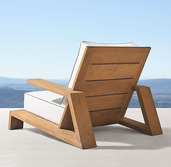 Olema Teak Lounge Chair Wood Lounge Chair Teak Lounge Chair