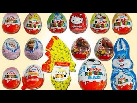 Kinder Surprise Eggs Play Doh Barbie Frozen Mickey Mouse Clubhouse Peppa...