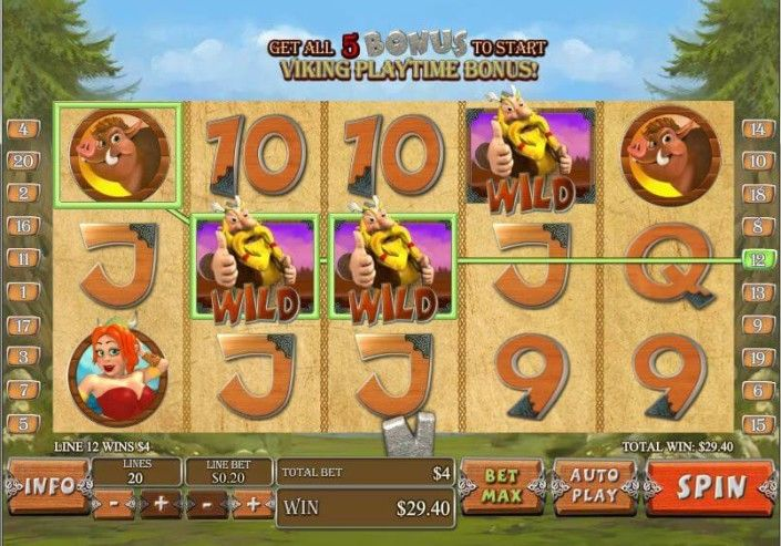 "Newtown Casino ""Viking Mania"" Slot Game! Pirate Battle! http://newtown-casino.com/"
