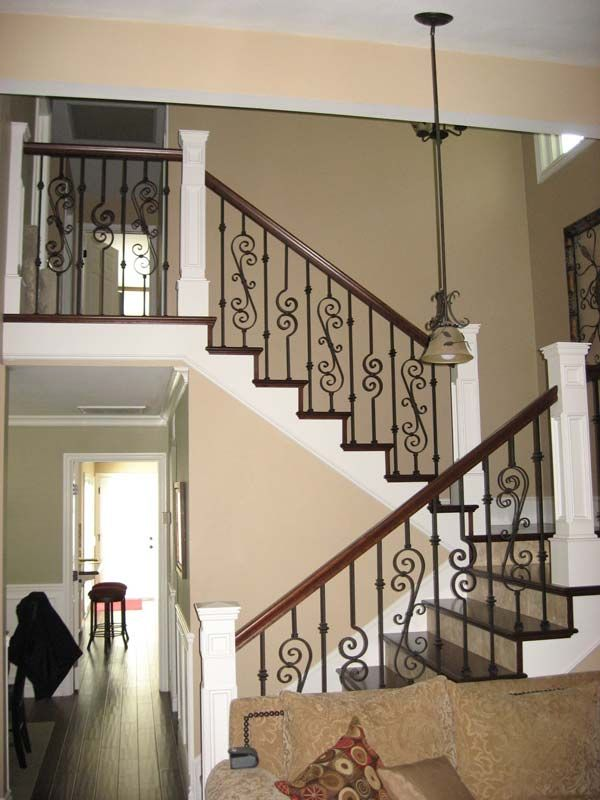 Staircase Remodel | Custom Stairs | Iron Baluster | Wood