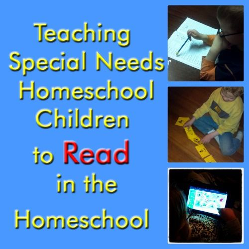 Teaching Special Needs Children to Read - peacecreekontheprairie.com