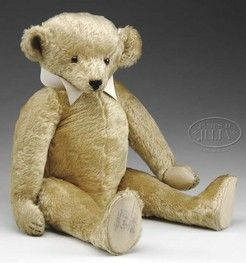 A rare Aetna Golden mohair teddy bear, American fully jointed bear dates to pre-1920