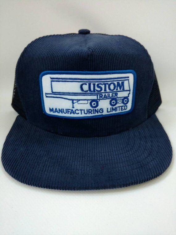 cdbf6c560748e Custom Trailer Manufacturing Limited Trucker Hat Corduroy in 2019 ...