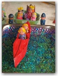 Small world boat play. Make their world come to life with this sensory activity and craft.