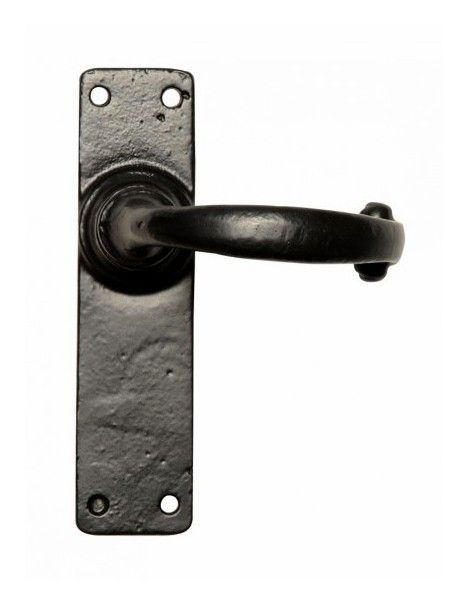 Beau Simple Black Cast Iron Door Handles   Iron Door Handles   Door Handles And  Accessories
