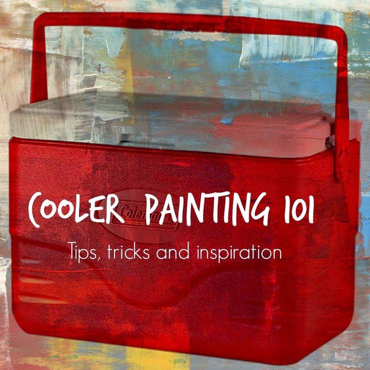 texasweettea: Cooler Painting 101 {DIY}