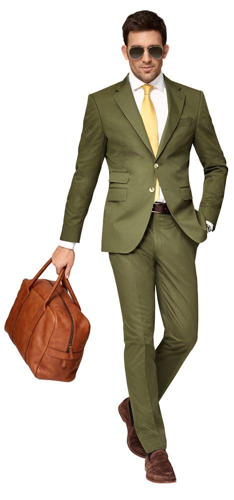 Dolzer Man Grüner Anzug