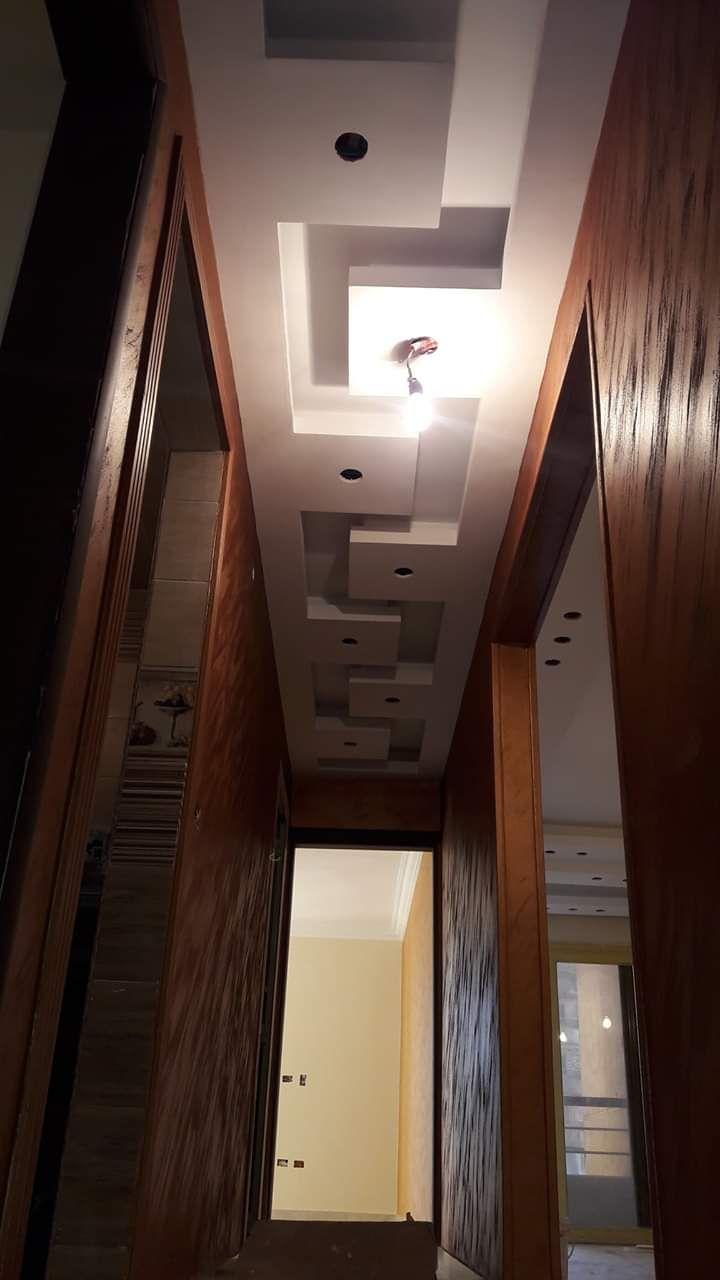 جبس ممرات 2020 أفضل ديكورات جبس فخمه للممرات والمداخل لبيتك الجديد Ceiling Design Living Room Ceiling Design Living Design