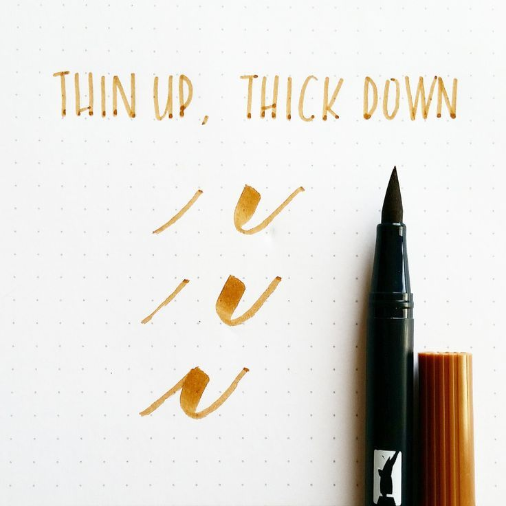 The Secret To Modern Calligraphy Thin Upstrokes Thick