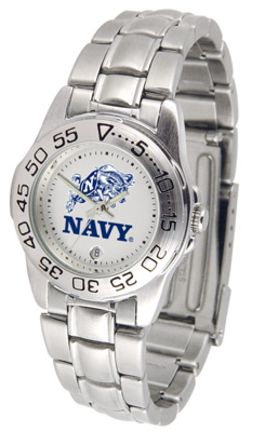Navy Midshipmen Gameday Sport Ladies' Watch with a Metal Band