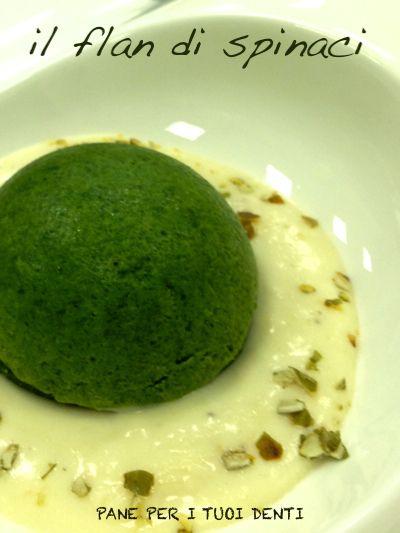 Il flan di spinaci con fonduta di parmigiano e semi di zucca tostati (ricetta dello chef Fabio Potenzano)