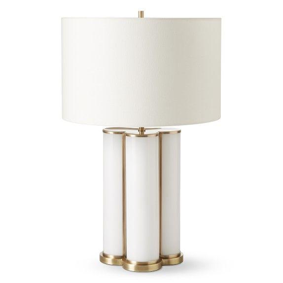 Quatrefoil Colored Glass Table Lamp White White Table Lamp Table Lamp Lamp