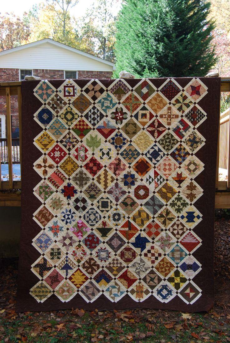 Farmers wife quilt - paper pieced jasne ramki
