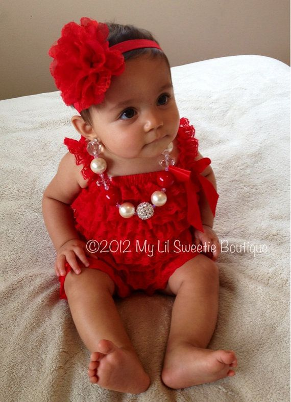 Red Vintage Lace Petti Romper   Newborn Outfit   Baby Girl Outfit    Toddler  Valentines Day Outfit  Photo Prop  Birthday On Wanelo