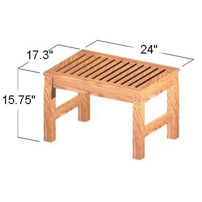 Westminster Teak Waterproof Shower Stool Seat - Westminster Teak Outdoor Furniture