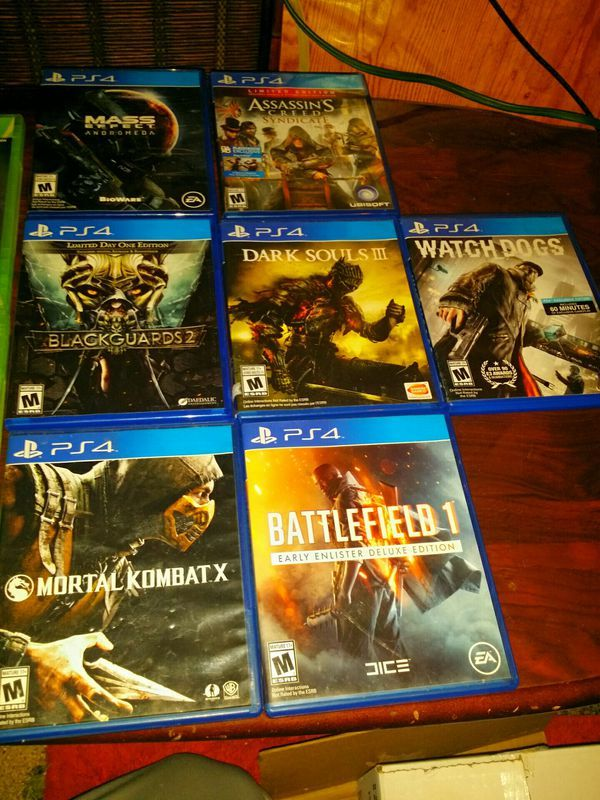 Video Game Lot Of 12 Ps4 Xbox 360 For Sale In Lexington In