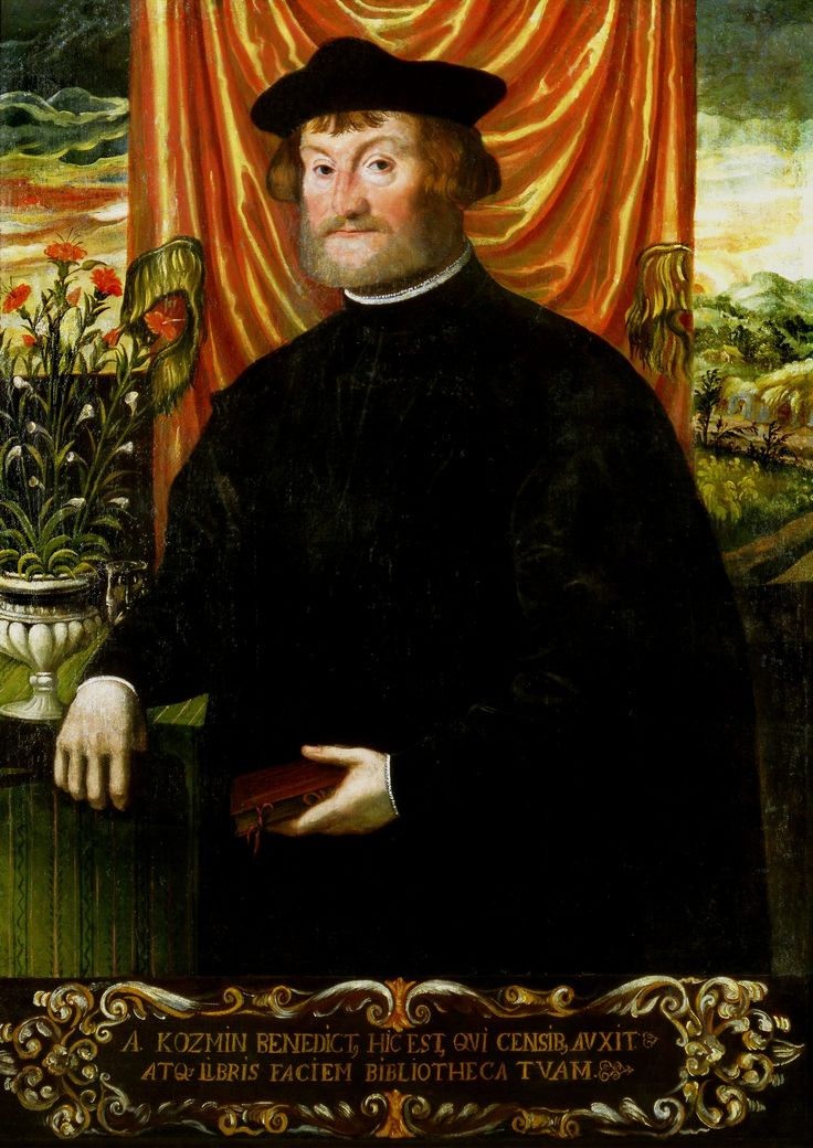Portrait of professor Benedykt Koźmińczyk of Koźmin by Anonymous from Kraków, ca. 1537 (PD-art/old), Muzeum Uniwersytetu Jagiellońskiego (MUJ)