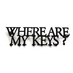 Wieszak na klucze WHERE ARE MY KEYS