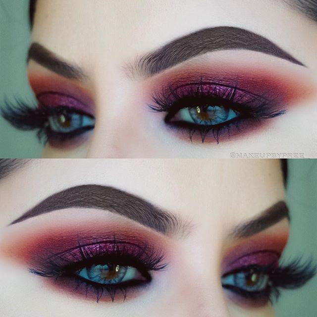 "Fall eyes • Brows: @anastasiabeverlyhills Brow Pomade in ""Dark Brown""• Eyes: @anastasiabeverlyhills ""Modern Renaissance"" palette  Lashes: @shophudabeauty in ""Scarlett"" Brushes: @morphebrushes"