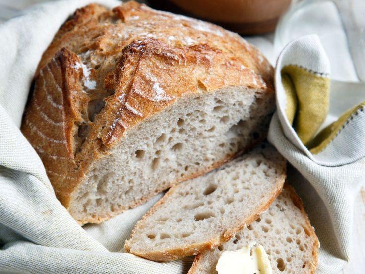 farine, Sel, levure de boulanger, eau