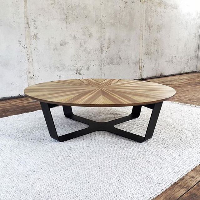 Usually we operate on a made to order basis BUT we do have one sunburst coffee table in Tasmanian Sassafras hydrowood ready to go to a new home. 1200 diameter top. Please send an email to lisa@simonancherstudio.com.au if you are interested. #furnituredesign #coffeetable #sassafras #tasmania #armadilloandco #hydrowood