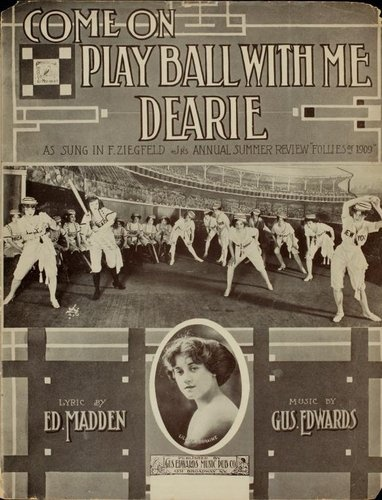 Come On, Play Ball with Me DearieDearie, Music Division, Sheet Music, Plays Ball