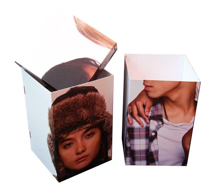 Board Box. Opbergboxen van fotoplaten van United Colors of Bennetton.