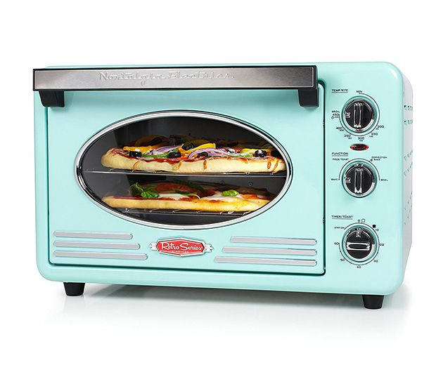 Diner Style 1950s Toaster Oven Retro Kitchen Appliance In A Pretty Turquoise Aqua Color That Is The Perf Convection Toaster Oven Retro Toaster Toaster Oven