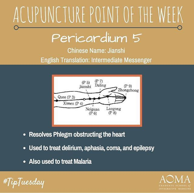 #TipTuesday: #Acupuncture Point of the Week, Pericardium 4! #integrativelife