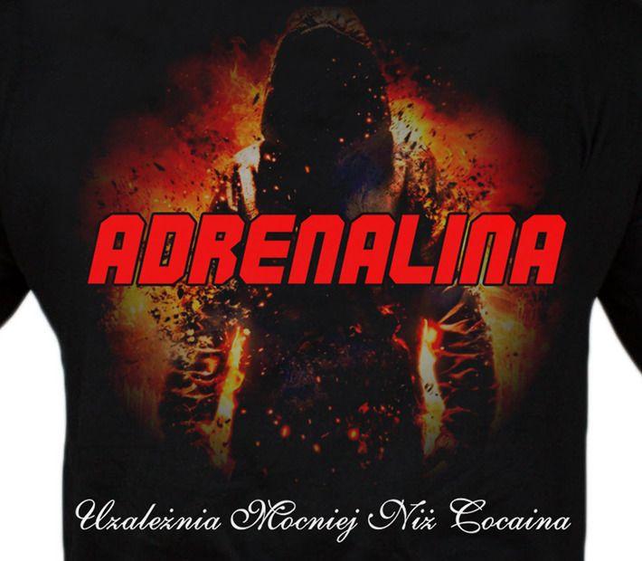 Motyw fighterski na koszulce 'Adrenalina' ---> Streetwear shop: odzież uliczna, kibicowska i patriotyczna / Przepnij Pina!
