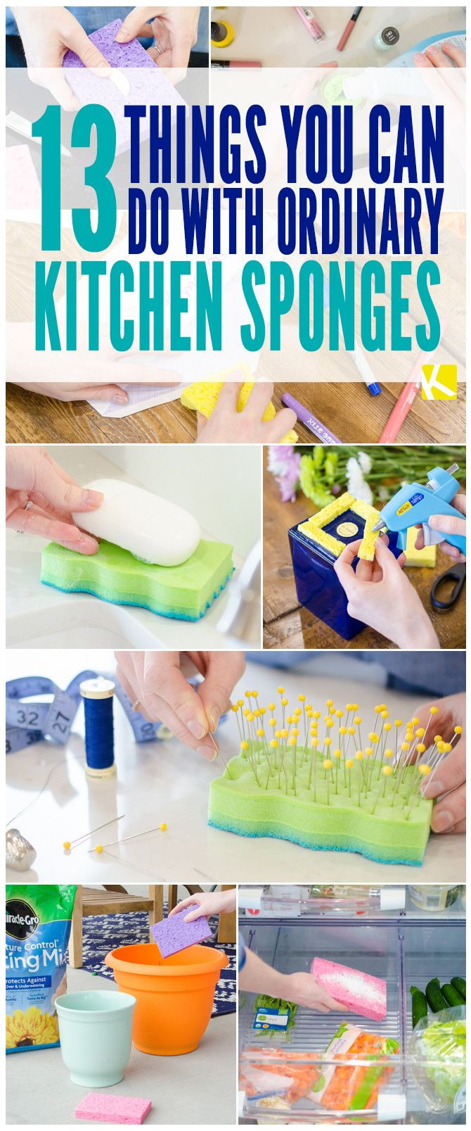 13 Ways to Use a Sponge That You've Never Thought of Before! - The Krazy Coupon Lady